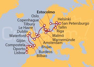 Itinerario Crucero Del Báltico a Vizcaya