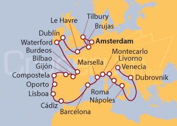 Itinerario Crucero Paleta Europea