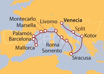 Itinerario Crucero Góndolas a Gaudí