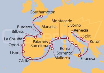 Itinerario Crucero Maravillas y Bodegas