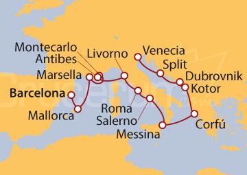 Itinerario Crucero Collage Europeo