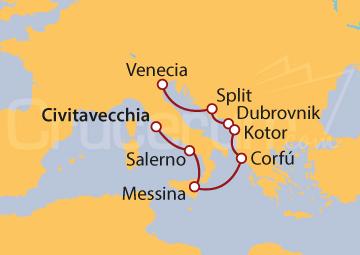Itinerario Crucero El Viejo Mundo y el Adriático