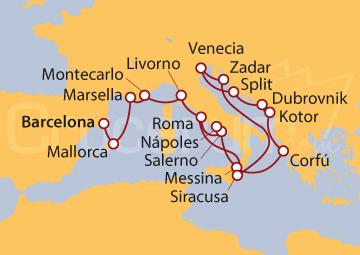 Itinerario Crucero Frescos y Fuentes