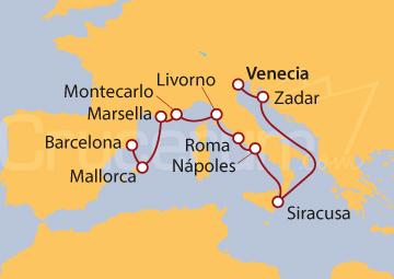 Itinerario Crucero Romance Romano