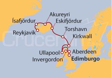 Itinerario Crucero Kilts y Fiordos