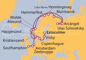 Itinerario Crucero Surcando el Norte de Europa