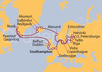 Itinerario Crucero Mitos y Majestuosidad