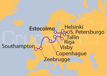 Itinerario Crucero Campanarios y Chapiteles