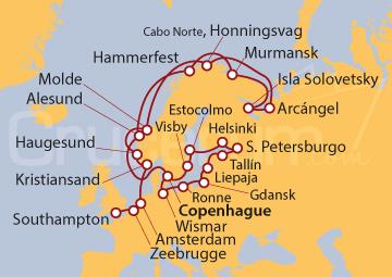 Itinerario Crucero Joyas del Cabo Norte
