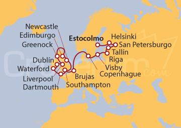 Itinerario Crucero Popurrí del Mar del Norte