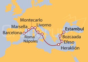 Itinerario Crucero Fusión Mediterránea
