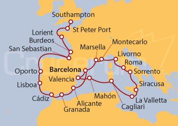 Itinerario Crucero Cataluña y Coronas