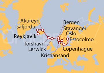 Itinerario Crucero Tierras de Vikingos