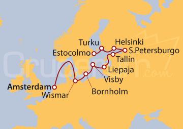 Itinerario Crucero Báltico Infinito