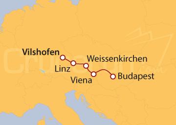 Itinerario Crucero Mercados de Navidad en el Danubio