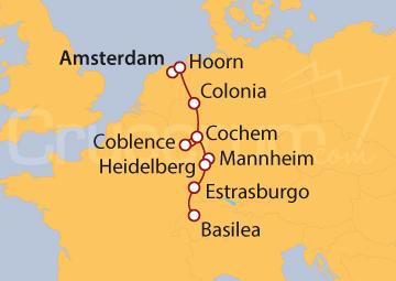 Itinerario Crucero Crucero Clásico por el Rín