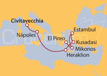Itinerario Crucero Islas Griegas y Estambul