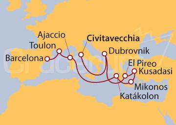 Itinerario Crucero El encanto del Mediterráneo II