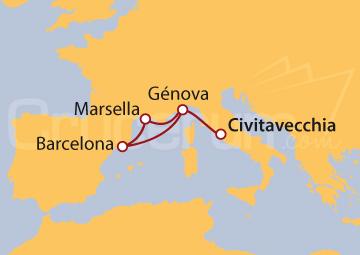 Itinerario Crucero Mediterráneo desde Roma