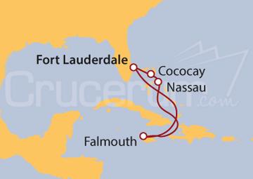 Itinerario Crucero Jamaica y Bahamas