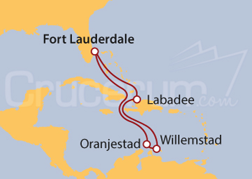 Itinerario Crucero Antillas Holandesas