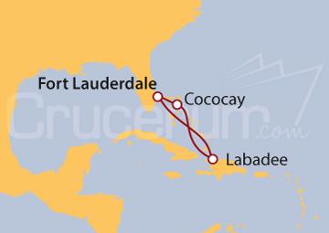 Itinerario Crucero Bahamas y Haití