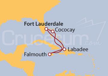 Itinerario Crucero Bahamas, Jamaica y Haití