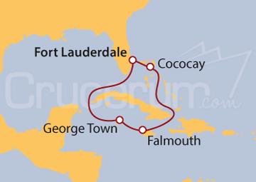 Itinerario Crucero Jamaica e Islas Caimán