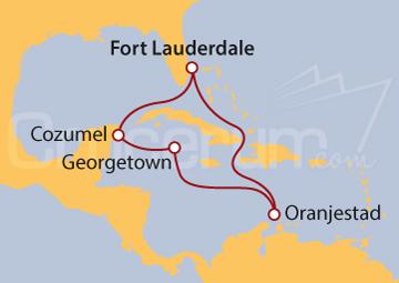 Itinerario Crucero Aruba, Islas Caimán y México