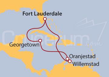 Itinerario Crucero Antillas Holandesas e Islas Caimán