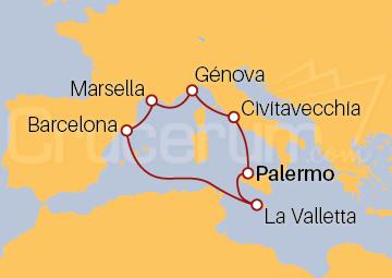 Itinerario Crucero Mediterráneo Occidental