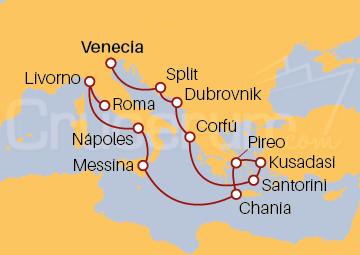 Itinerario Crucero Por el Adriático, Islas Griegas e Italia