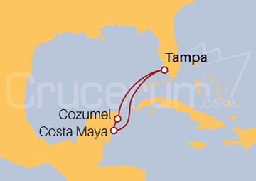 Itinerario Crucero México desde Tampa