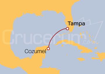 Itinerario Crucero México desde Tampa (EE UU)