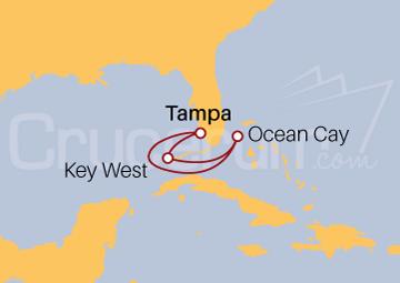 Itinerario Crucero Bahamas desde Tampa (EE UU)