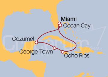 Itinerario Crucero Viajando por el Trópico de Cáncer