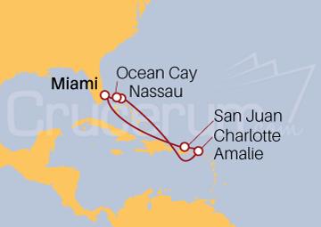 Itinerario Crucero Puerto Rico e Islas Vírgenes
