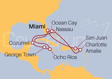 Itinerario Crucero Caribe al Completo
