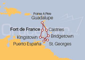 Itinerario Crucero Caribe, Antillas