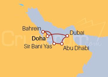 Itinerario Crucero Qatar, Emiratos Árabes Unidos y Bahréin
