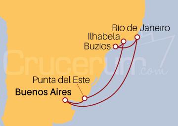 Itinerario Crucero Navidad por Argentina, Uruguay y Brasil