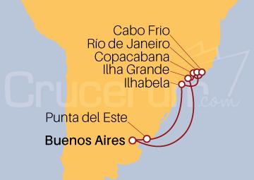 Itinerario Crucero Navidad por Argentina, Brasil y Uruguay