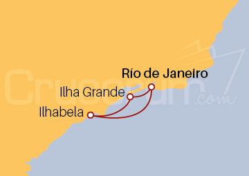 Itinerario Crucero Brasil desde Río de Janeiro