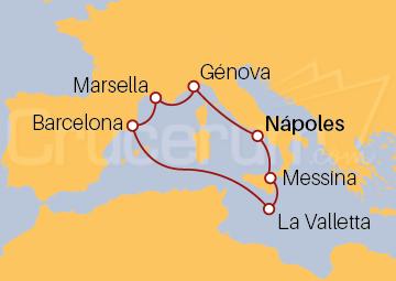 Itinerario Crucero Italia, Malta, España y Francia