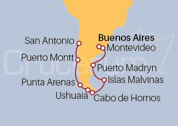 Itinerario Crucero Descubre Sudamérica