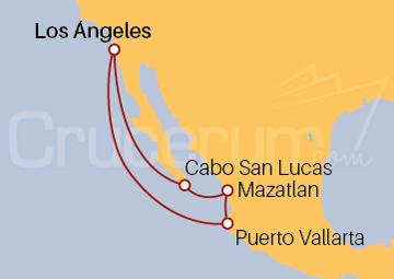 Itinerario Crucero Riviera Mexicana