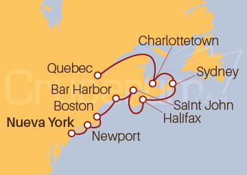 Itinerario Crucero La Clásica Canadá