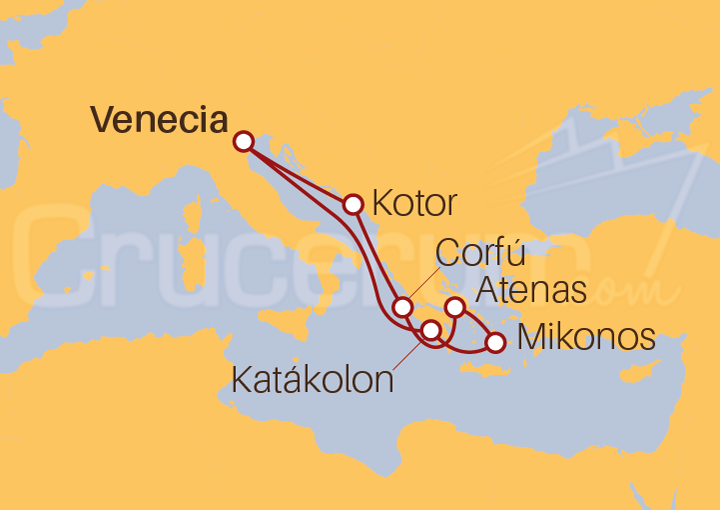 Itinerario Crucero Adriático e Islas Griegas
