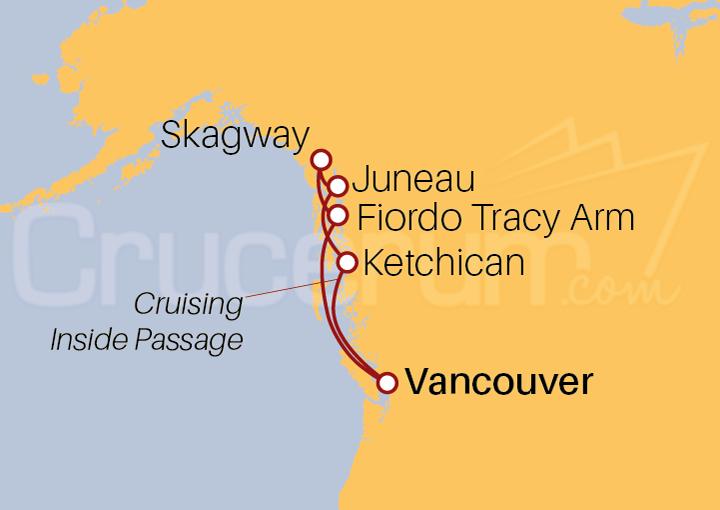 Itinerario Crucero Alaska desde Vancouver