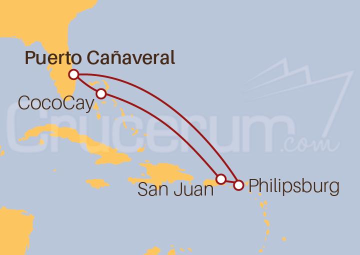 Itinerario Crucero Desde Orlando a Puerto Rico